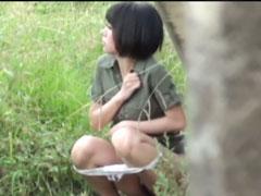 Heimlich beim Outdoor Pissen gefilmt