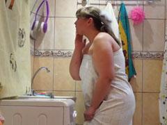 Mollige Mutter heimlich gefilmt